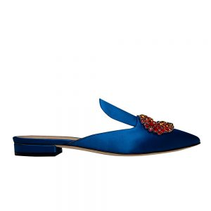 Daphne Satin Mules - Giannico Luxury Shoes