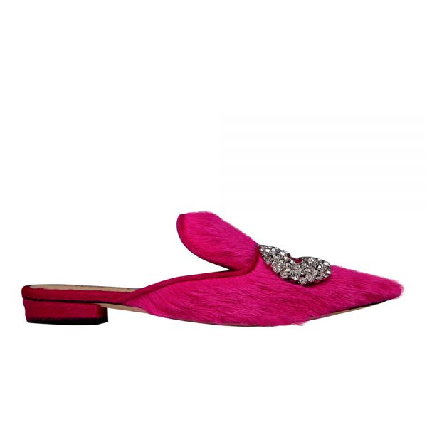 Daphne Flat Fur - GIANNICO Italian Luxury Shoes