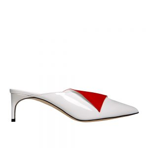 Fontana Kitten White/red - GIANNICO Italian Luxury shoes