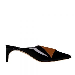 Fontana Kitten Black Camel - GIANNICO Italian Luxury Shoes