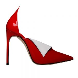 Fontana Pump Red White Details - GIANNICO Italian Luxury Shoes