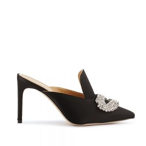 DAPHNE BLACK SATIN PUMP