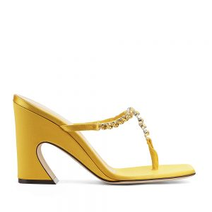 THONG YELLOW SATIN SANDAL